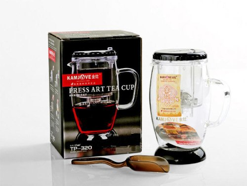 Kamjove Glass Gongfu Teapot With Infuser Mug 300Ml/10.56Oz
