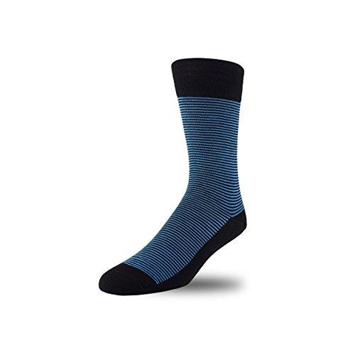 STÓR calzini da uomo calze bambù antibatterico traspirante morbido calzini Active Antifungal Solid Patterns molti colori Blue/Black Medium