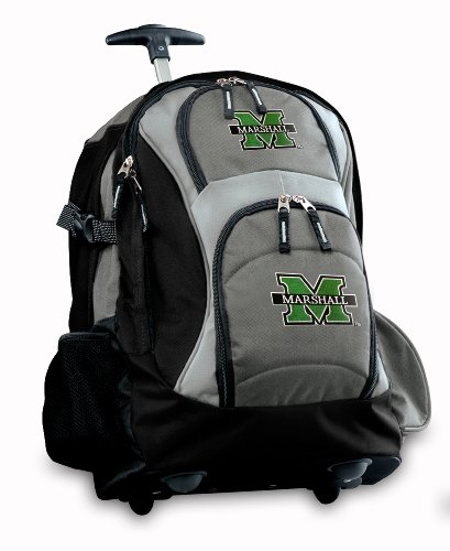 Marshall University Rolling Backpack Deluxe Gray Marshall Herd Best Backpacks B