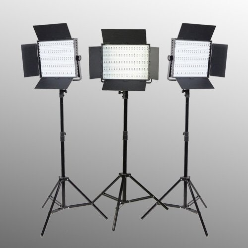 Ephoto 3 Panel 600 Led Lighting Kit Photograph Video Light Panel With Light Stand Kit Sony V Mount Adapterby Ephotoinc Uls600Hsx3
