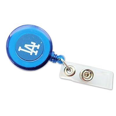 MLB Los Angeles Dodgers Sports Team Logo Retractable Badge Reel Id Ticket Clip