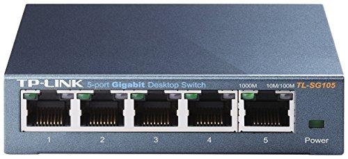 TP-Link 【ライフタイム保証(無償永久保証)】Giga対応10/100/1000Mbps 5ポートスイッチングハブ金属筺体 TL-SG105