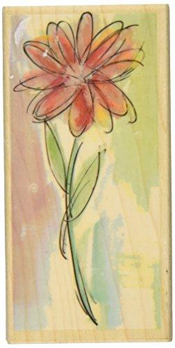 Hampton Art Watercolor Daisy Rubber Stamp - 1