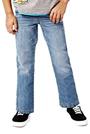 Cotton Rich Adjustable Waist Jeans with Belt