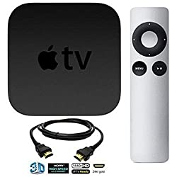NEWEST MODEL Apple TV Streaming Media Player (Latest Model) Bundle including DeOrz High-Speed 3 Foot HDMI Cable