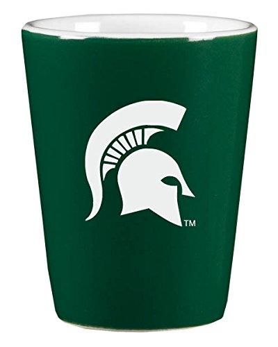 Michigan State University - 1.75oz Ceramic Shot Glass - Green