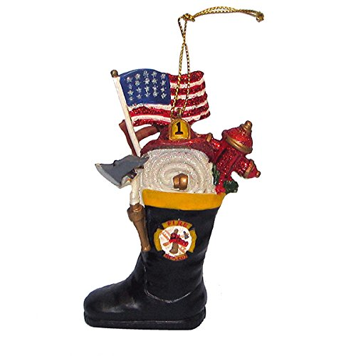 1-X-FIREMAN-BOOT-ORNAMENT-Christmas-Ornament