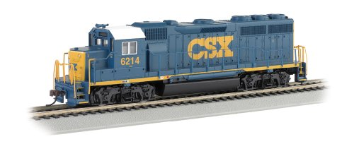 Bachmann Industries Emd Gp40 Locomotive Csx #6214 Ho Scale Train Car, Dark Future