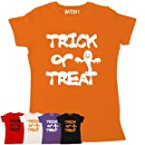 Batch1 Women's Halloween Spooky Trick Or Treat Ghost Printed Fancy Dress Party T-Shirt