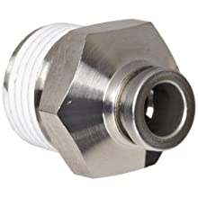 SMC KQ2 Series Polybutylene Terephthalate Push-to-Connect Tube Fitting, Branch Universal Elbow, Tube OD x BSPT Male, White (Removed)