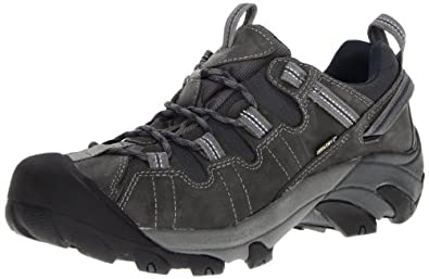 KEEN Men's Targhee II Waterproof Hiking Shoe,Gargoyle/Midnight Navy,7 M US