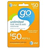 AT&T Prepaid $50.00 Prepaid Refill Card (Mail delivery)