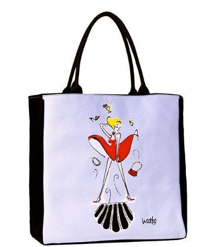 Isabelle Large Tote Bag, Organic Cotton Art Bag with