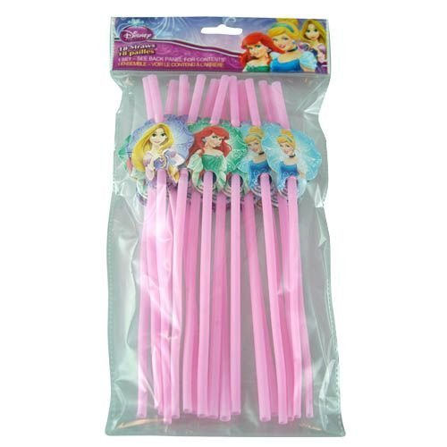 Disney Princess 18pk Character Straws - 1