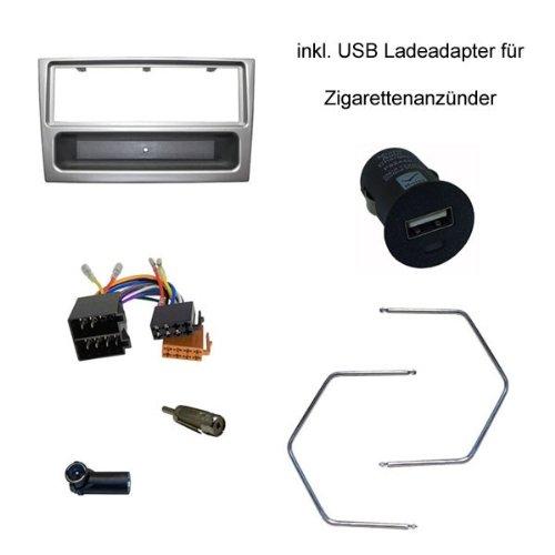 Radioblende-SET-OPEL-Corsa-CComboAgilaVivaroOmega-BAstra-GVectra-CMeriva-ISO-lichtsilber