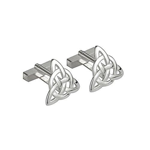 Trinity-Knot-Cufflinks-Rhodium-Plated-Made-in-Ireland