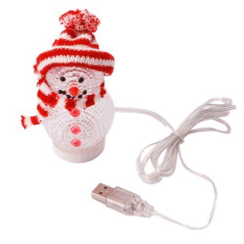 Leegoal (Tm) Lovely Christmas Celebration Colorful Usb Led Light Snowman