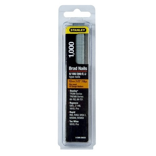 Stanley 0-SWKBN100 25mm 18-Gauge Brad Nails (1000 Pieces)