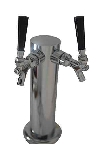Double Tap Draft Beer Tower, Chrome 3