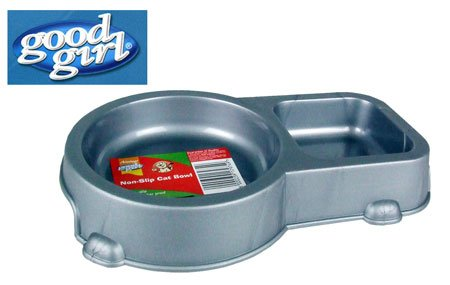 good-girl-Twin-Non-Slip-Cat-Bowl-75inch-Silver