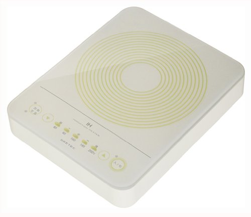 【Amazonの商品情報へ】DRETEC コンパクトフラットIH調理器 アイボリー DI-211IV