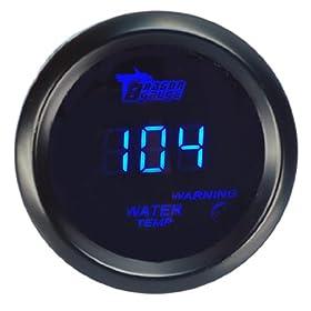 ELENKERu2122 High Performance 2inchs 52mm Digital LED 104-300 Fahrenheit Water Temp Temperature Gauge For Car Vehicle Motor