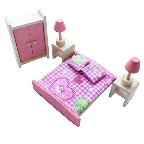 iEFiEL Puppenhaus Möbel Zubehör Holzspielzeug