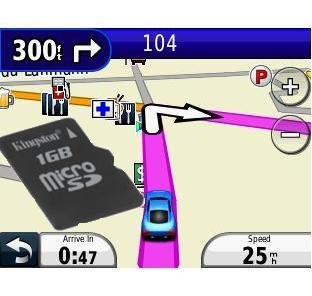 Costa Rica GPS Map for Garmin Units - 30 Days License on Micro SD Card