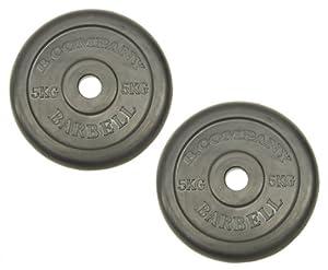 Hantelscheiben Gummi 30/31mm - 2 x 5,00 Kg Hantelscheiben