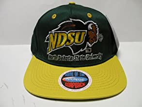 NCAA North Dakota State Bison Green Yellow 2 Tone Snapback Cap
