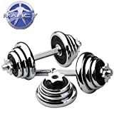 Marcy 20kg Chrome Adjustable Dumbell Set With Spinlock Collars