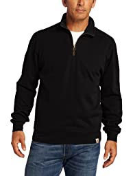 Carhartt Men\'s Big & Tall Sweater Knit Quarter Zip Relaxed Fit,Black,X-Large
