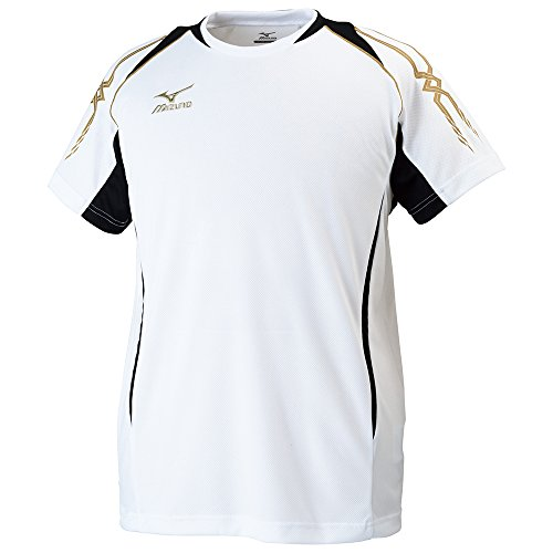 (ミズノ)MIZUNO クロスティックウェア Tシャツ [メンズ] 32JA6010 01 ホワイト×ブラック XL