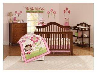 Child Of Mine Ballerina Garden 3Pc Crib Bedding Set