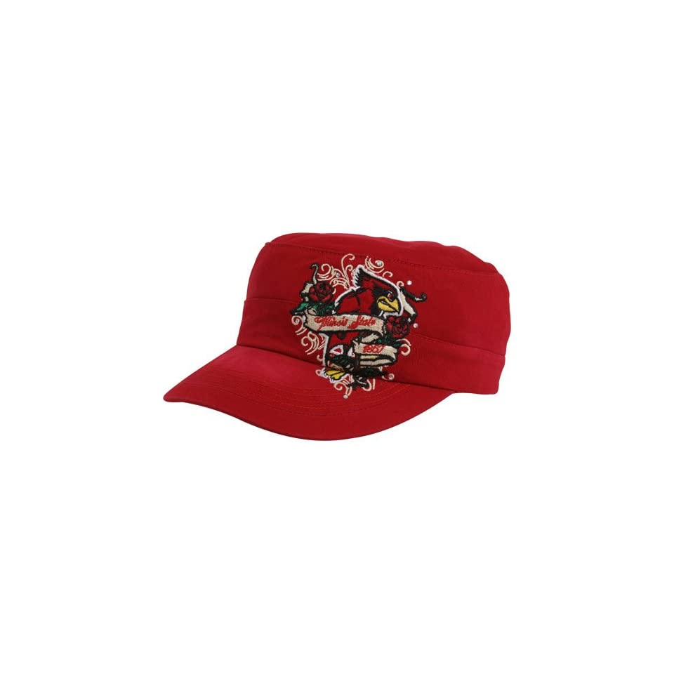 NCAA Top Of The World Illinois State Redbirds Ladies Red Eve Adjustable Military Style Hat