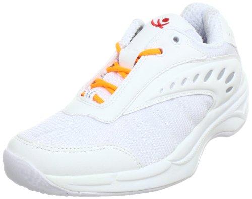 Chung Shi AuBioRiG Balance Step Sport weià mit orangenen Schuhbändern Walking Shoes Womens White Weià (weiÃ/orange) Size: 3 (35.5 EU)