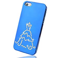 buy Nova Case® Lumia Series 3D Bling Crystal Iphone Case For Iphone 5 - Blue Wedding Dress (Package Includes Soft Pouch, Screen Protector, Extra Crystals)
