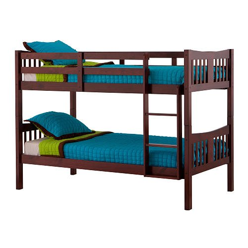 Stork Craft Caribou Bunk Bed - Cherry - Bunk Beds - Kids Furniture - Bed Frames - Home Furniture - Smaller In Stature And Height For That Bedroom That Is Short On Space - Convert Into Two Separate Twin Beds