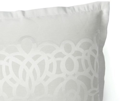 Hudson Park Collection Luxe Modern Lace King Pillow Sham Silver New eBay