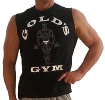 G191 Golds Gym Shirt Sleeveless to Logo (L, Black)