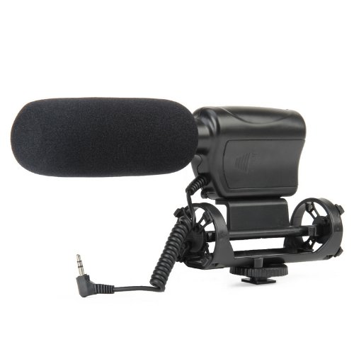 Touchglobal Na-Q7 Professional Stereo Microphone For Dv / Dslr Camera - Black