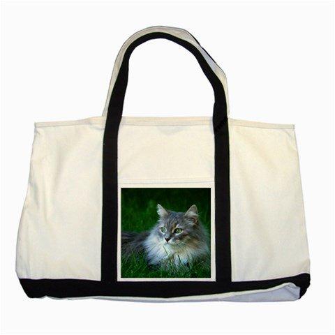 "Casesuper Designs Cat T5 Animal Tote Bag, Tote Bags Two Tone 22"""