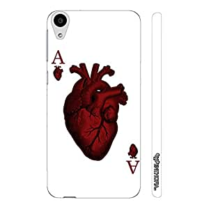 HTC Desire 728 Dual SIM Ace of Hearts designer mobile hard shell case by Enthopia