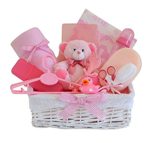 Belle weiß Weidenkorb Baby Geschenk Korb/12Neugeborene Essentials/Baby-Geschenkkorb/Baby Dusche Geschenk/New Arrival/Schnell Versand
