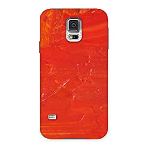 Special Orange Paint Texture Back Case Cover for Samsung Galaxy S5