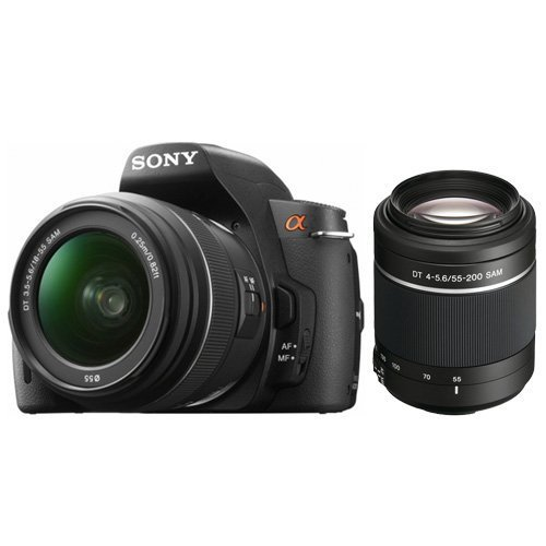 Sony DSLR DSLR-A390L 14.2MP Digital SLR Camera With 18-55/55-200MM II Lenses