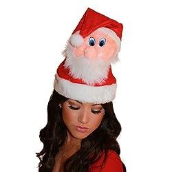 Santa Head Hat by Tipsy Elves