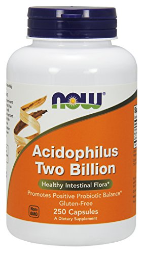 Now Foods Acidophilus Two Billion, Capsules, 250-Count (Gluten free)
