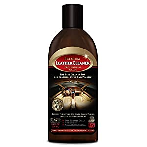 Leather Cleaner for Cars, Purses, Shoes, Sofa & More - All Natural Professional Grade