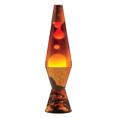 Lava Lite 2149 14.5-Inch Color Max Volcano Print Lava Lamp with Tri-Colored Globe, White Wax/Clear Liquid